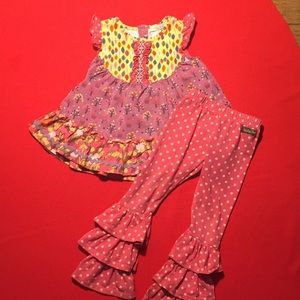 Matilda Jane 2 piece outfit size 2t